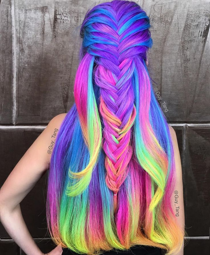 17 best ideas about rainbow hair on pinterest hair dye