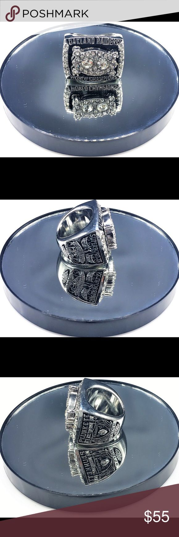 """Super Bowl 15 (XV) Replica Ring - Oakland Raiders Super Bowl 15 (XV) Replica Ring  Oakland Raiders 27 Philadelphia Eagles 10 Jan. 25, 1981  """"Plunkett Takes Charge""""  Size 11 but meant for Collectible Souvenir. Perfect Gift for any true Oakland Raiders Fan. Accessories Jewelry"""