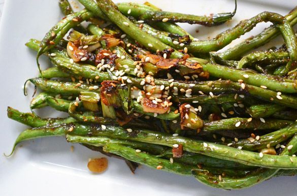 Szechuan green beans (although I think i will give them a quick steam as opposed to saute? who knows)