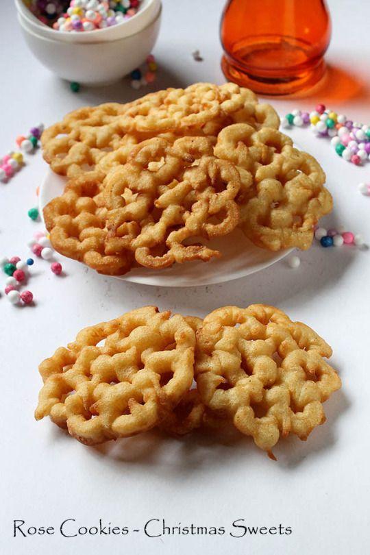 Rose Cookies Recipe – Rose De Coque Recipe | Goan Christmas Sweets Recipe