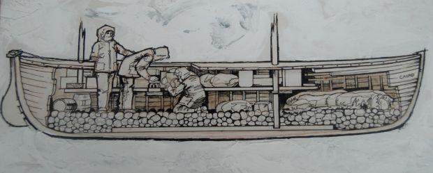 Shackleton preparing the James Caird