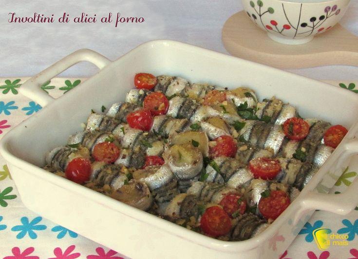 Involtini+di+alici+al+forno