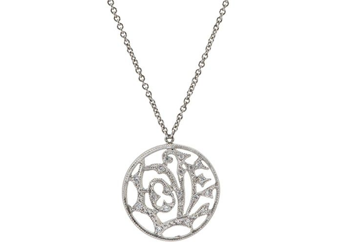 Popular Platinum Wedding Jewelry Trends: #1. Platinum Pendant; #diamondjewelry