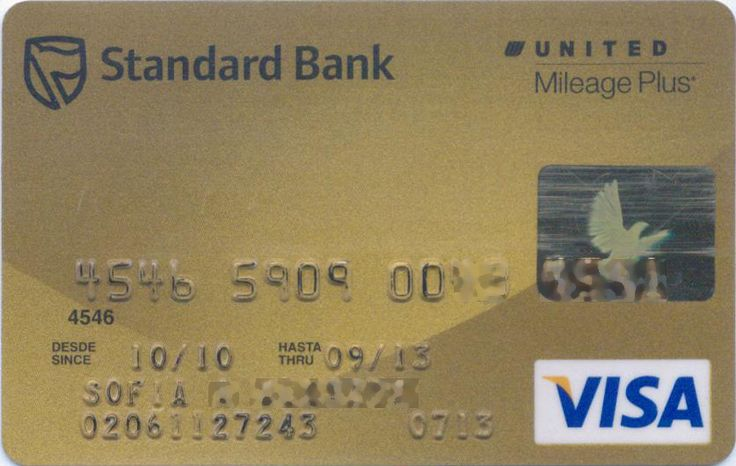 UNITED Airlines |  Mileage Plus | VISA | Standard Bank, Argentina | Col:AR-VI-0109-2
