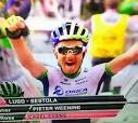 Pieter weening wins 9e giro stage