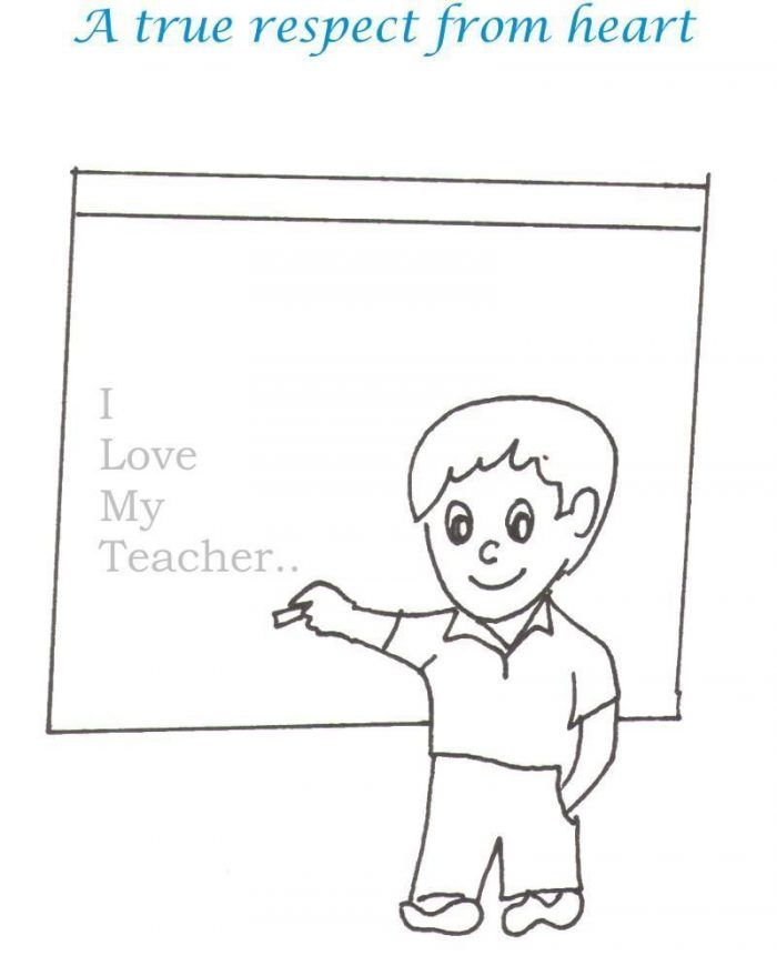 I Love My Teacher Coloring Page Coloring Pages School Coloring