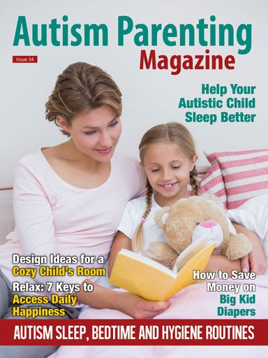 #Autism Parenting Magazine Issue 34 - Autism Sleep, Bedtime and Hygiene Routines +Helping Your Child with Autism Sleep: An Overview of Sleep Hygiene and Behavioral Strategies +Dr. G Aspie Show - Practical Tips for Combating Sleep Problems with Asperger Kids +Practicing Good Hygiene and Self-Care for Life +4 Tips for Finding the Right Bedtime Routine +many many more! Buy now at http://www.autismparentingmagazine.com/issue-34-autism-sleep-bedtime-and-hygiene-routines/
