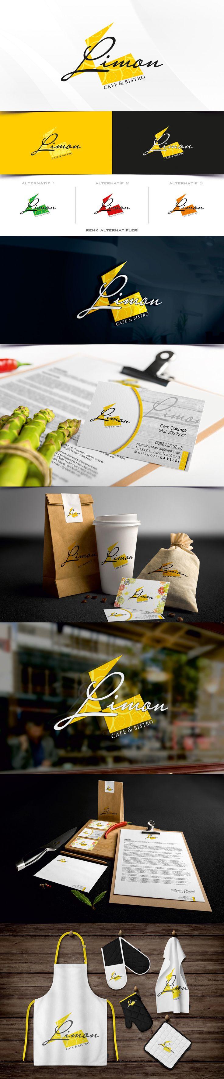 Limon cafe bıstro firması için hazırladımız logo tarımı ve kurumsal kimlik çalışması