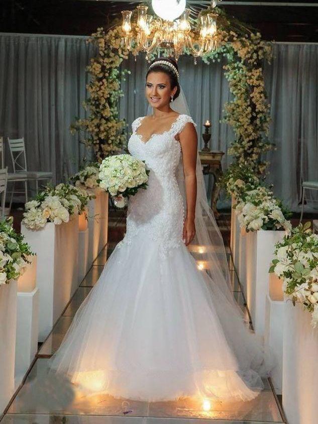 explore wedding dresses with straps