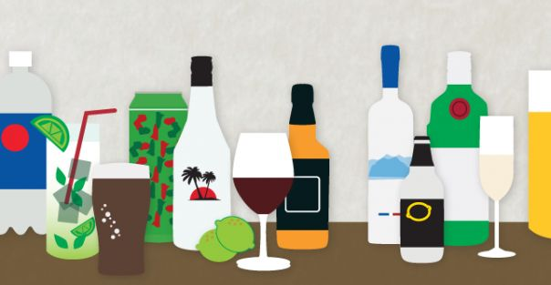 How to Choose the Healthiest Beer, Wine, and Cocktails [INFOGRAPHIC]