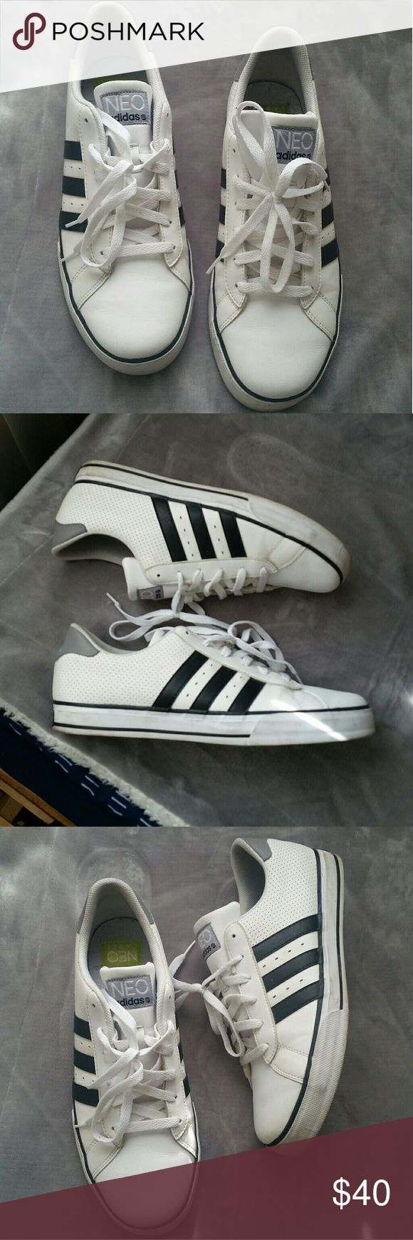 REDUCED PRICE!! Adidas NEO Label Sneakers Size 10 1/2  In Great Condition!  Worn Twice .  Like new , Look Way Better in Person .  Price is FIRM Adidas Shoes
