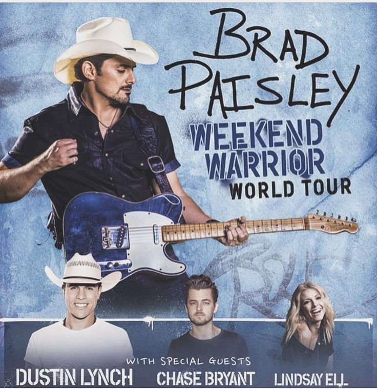 Brad Paisley's Weekend Warrior World Tour is one of the top country tours this #summer! @lindsayell kills it on guitar too! Visit countryclones.com for tour dates.