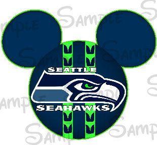 Seattle Seahawks NFL Football team inspired  DIGITAL printable DIY mouse head file