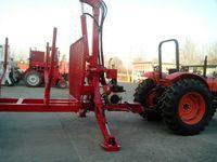 10 ton log trailer with diesel engine crane