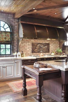 Gorge Kitchen Brick Back Splash, Awesome Hood. Kitchen Design By Matthew  Quinn. Part 59