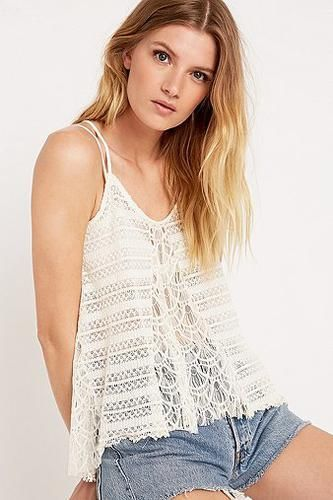 Pins & Needles Lace Mix Cami in Ivory #camisole #women #covetme #pins&needles