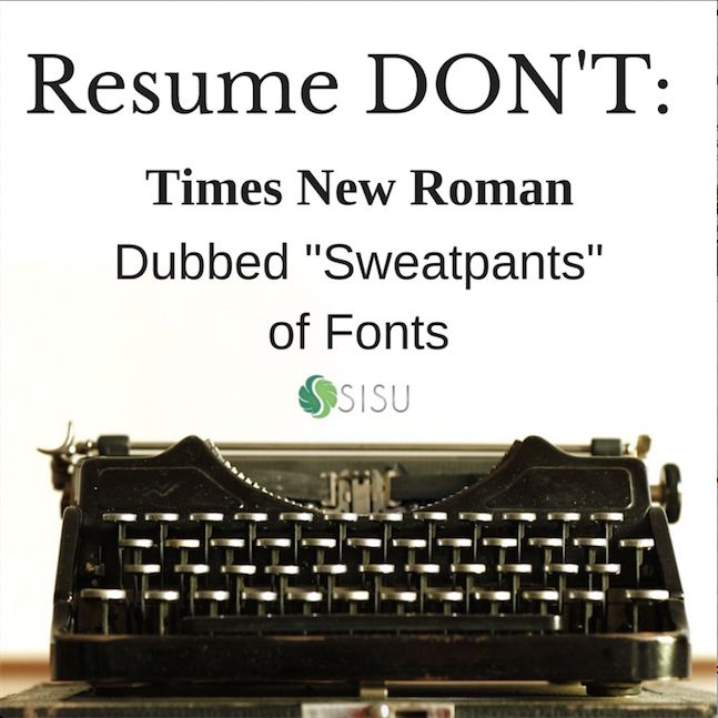 times new roman resumes