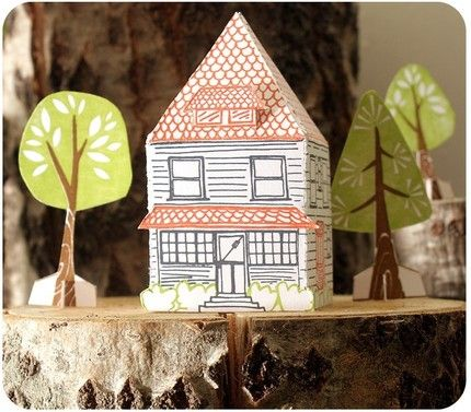 Paper house kit from 1canoe2
