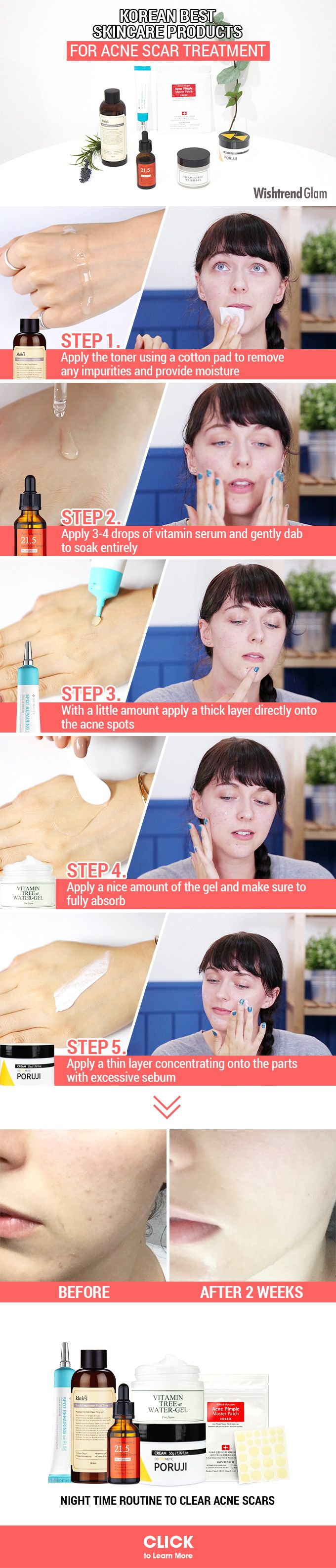 HOW TO EFFECTIVELY REMOVE ACNE SCARS | KOREAN NIGHT CARE ROUTINE FOR ACNE SCAR TREATMENT