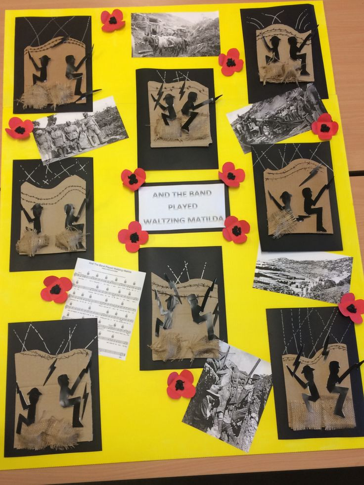 In the trenches display.