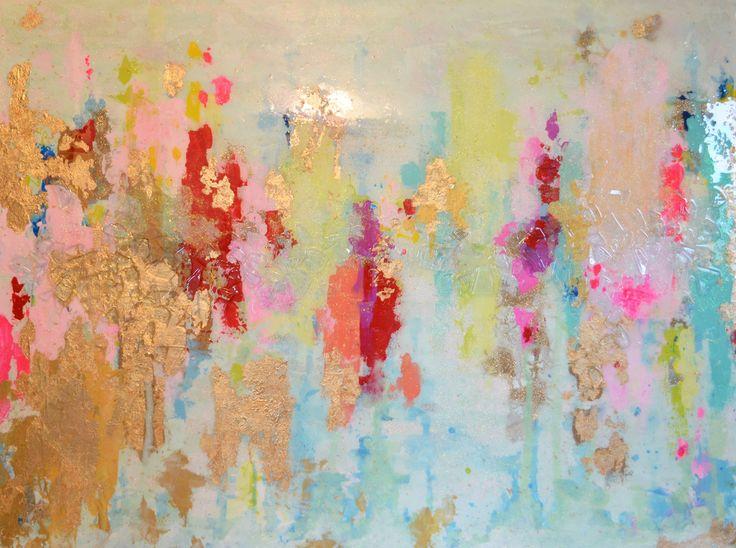 **********************************************************Vendu Acrylique Abstrait Art grande toile de par BlueberryGlitter