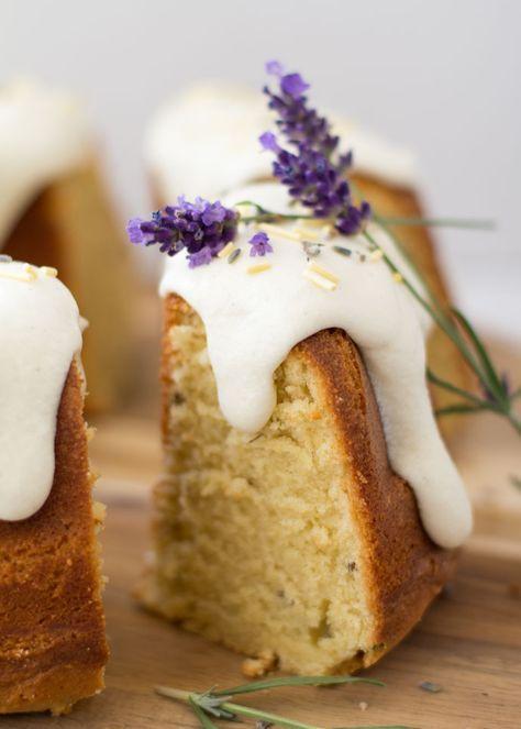 lemon lavender cake with vanilla glaze