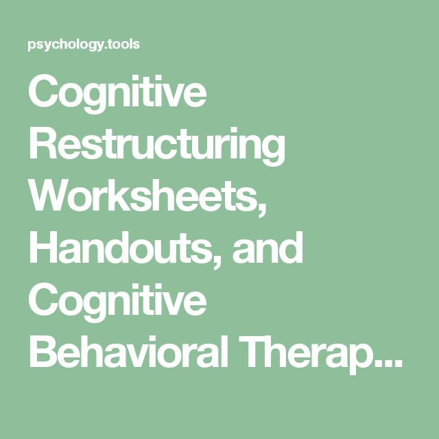 cbt cognitive restructuring Cation of cognitive-behavioral therapy (cbt) to chronic pain problems indeed, cbt is now a mainstream treat-  and cognitive restructuring (thorn, 2004 turner .