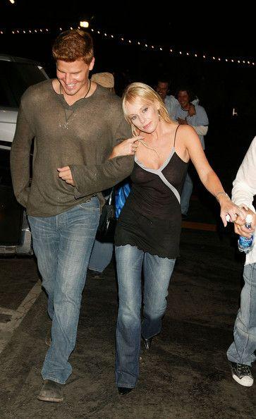 "David Boreanaz Photos Photos - Celebs party at the exclusive ""Spider Club"" in Hollywood. - Celebs party at the Spider Club"