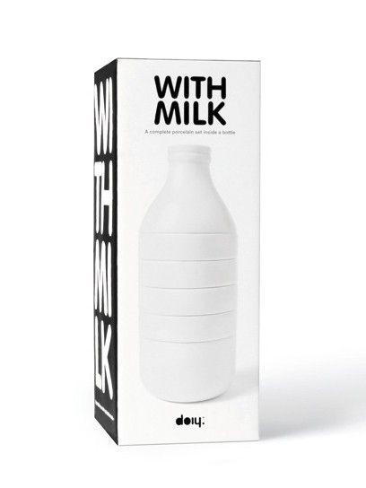 with milk