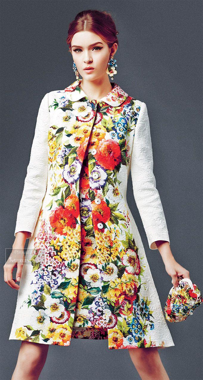 Fashion Womens Autumn Warm Print Fllower Windbreaker Jacket Overcoat Outwear Hot