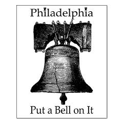 Philadelphia - Put a Bell on It!  All profits from this image go to the First Book Philadelphia foundation. First Book's mission is to increase literacy for children by providing access to books to those who are underprivileged.