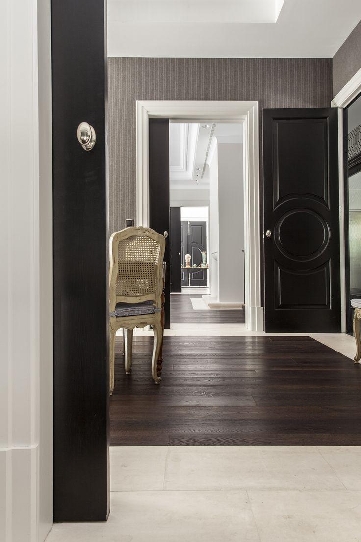 Las 25 mejores ideas sobre puertas negras en pinterest - Decorar cristales de puertas ...