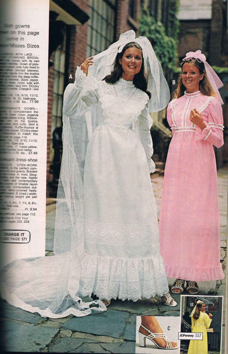 1973 Wedding Dress Penneys Catalog 1973 Vintage Bridal And Bridesmaid Wedding Gowns Vintage Bridal Gowns Vintage 1970s Wedding Dress