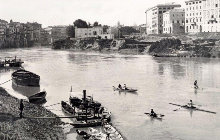 Tevere (1890) Canottieri sul Tevere