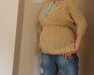 uncinetto moda e fantasia: maglioncino primaverile in lana.....