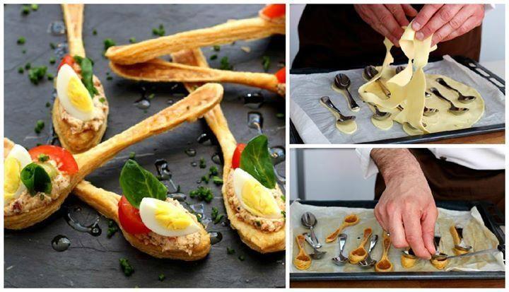 Ecco la ricetta passo passo per preparare i cucchiaini di pasta sfoglia.