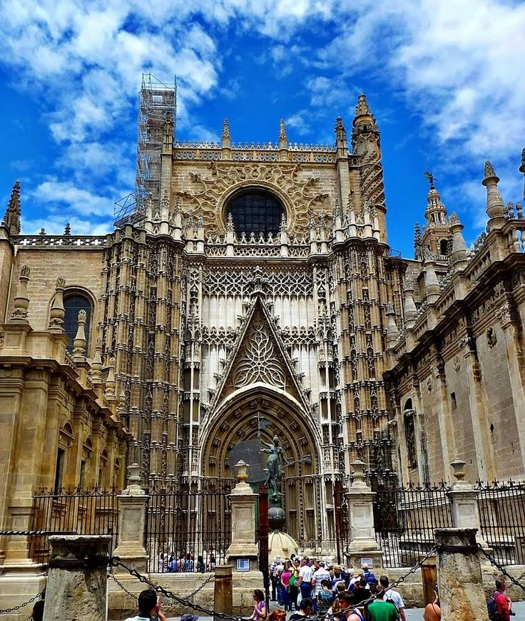 Seville Cathedral, seville, spain  One of my favorite places in the world.