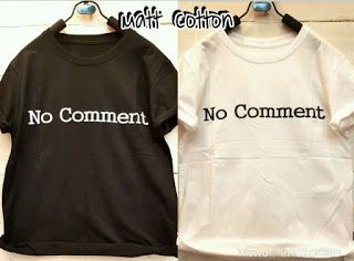 ssfashionkaos: Kaos no comment polos allsize