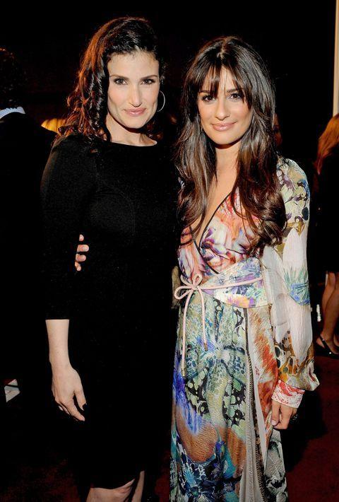 Idina Menzel and Lea Michele, Glee really did a good job they look so alike!!