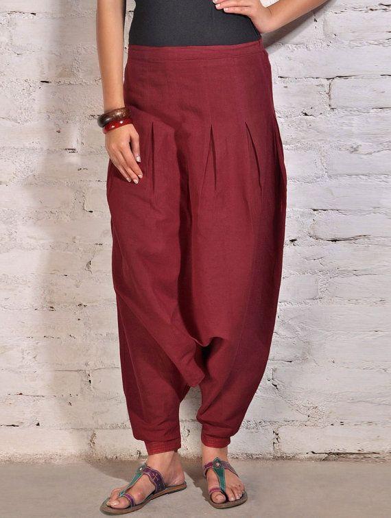 Palloncino cotone pantaloni / Genie Baggy di LittleLilbienen, $45.00