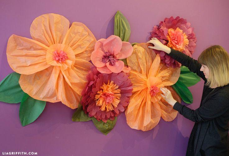 Jumbo Tissue Paper Flowers: