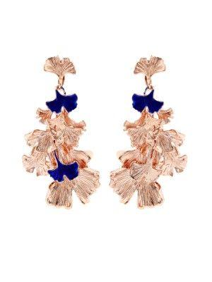 Ginkgo lacquered rose gold-plated clip-on earrings   Aurélie Bidermann   MATCHESFASHION.COM AU