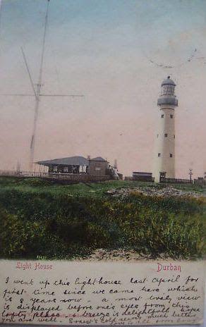 Bluff Lighthouse Durban postcard