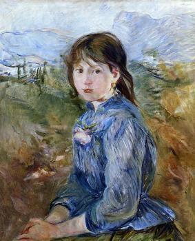 The Little Girl from Nice, Celestine - Berthe Morisot - The Athenaeum