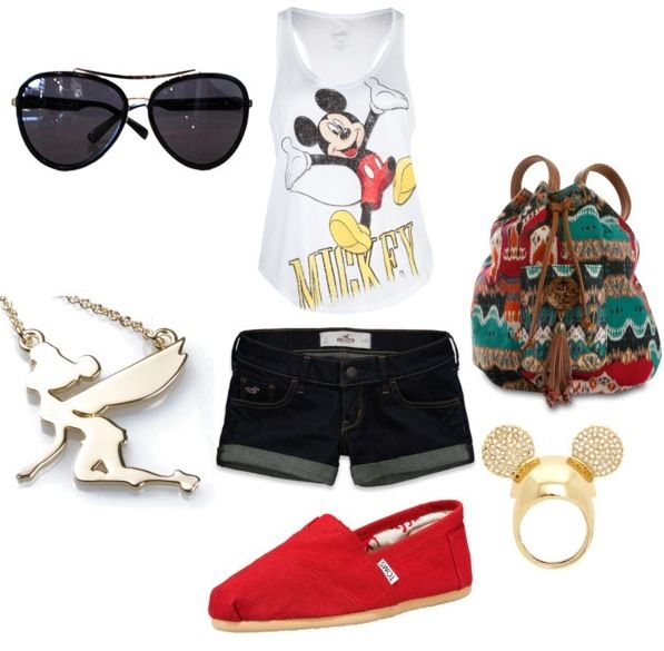 Disney outfit : cute and simple : Mickey ring