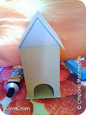 Мастер-класс Поделка изделие Картонаж Делаем Чайный домик - заготовка для декора Бумага Картон Клей фото 1