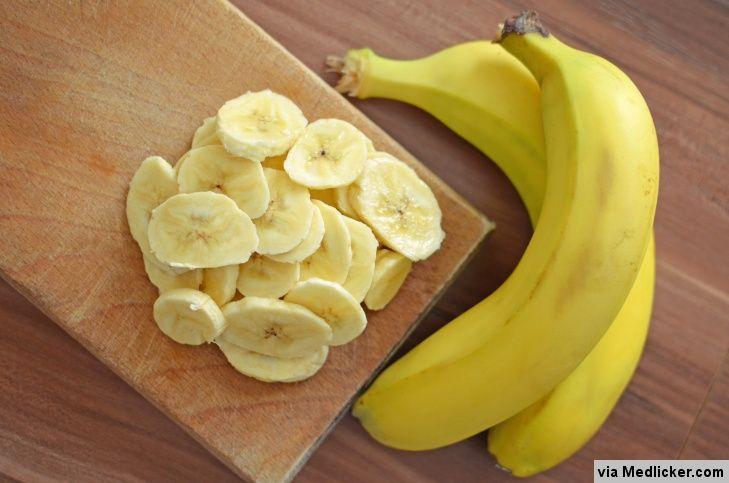 Bananes en tranches fines