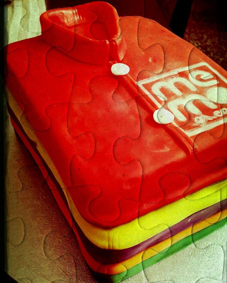 t shirt cake   Fondant cake  Custom Homemade Cakes By Handy Nancy
