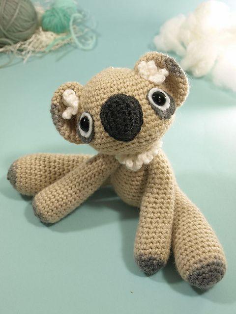 Neila de Koala © Dawn ToussaintCrochet Toys, Free Pattern, Haken Crochet, Dawn Toussaint, De Koalas, Koalas Dawn, Koalas Crochet Free, Neila De, Crochet Knits