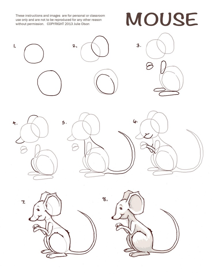 50 best penguins images on pinterest drawing techniques for How do you draw a mouse